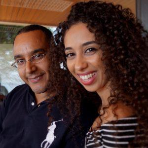 Με την φίλη, συνάδελφο και μέλος του Δικτύου Νεολαίας της Αφρικανικής Διασποράς στην Ευρώπη (ADYNE)