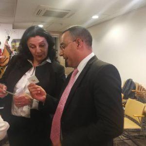 Με την Αντιπρόεδρο της κυβέρνησης της Ουκρανίας κα. Ivanna Klympush