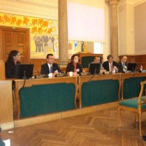 Συνεδρίαση με τη συμμετοχή του Υπουργού Εξωτερικών της Αλβανίας Ditmir Bushati και τον Βουλευτη της αντιπολίτευσης Gerti Bogdani στην Αλβανία
