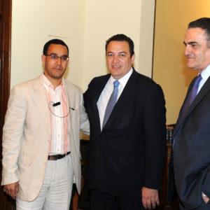 Με τον κο. Ευριπίδη Στυλιανίδη και τον κο. Χαράλαμπο Αθανασίου