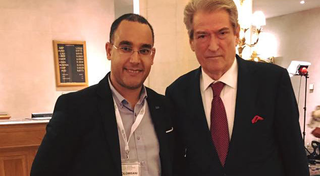 With the first elected Democratic Albanian President and former Prime Minister, Mr Berisha !!