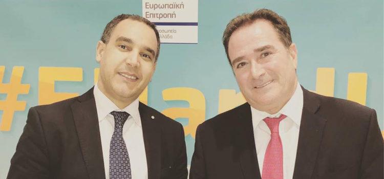 Με τον κ. Γ. Μαρκοπουλιώτη Επικεφαλής της Αντιπροσωπείας της Ευρωπαϊκής Επιτροπής στην Ελλάδα