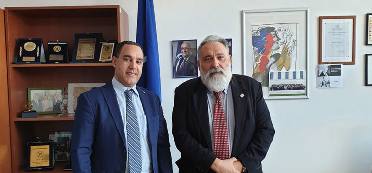 With D. Esdra, Specialist. Envoy of the Director-General of IOM to the Greek Government and Counselor of the Regional Director for the Mediterranean