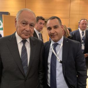 Με τον Γ.Γ. Αραβικής Ένωσης κ. Ahmed Aboul Gheit