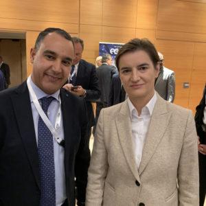 Με την πρωθυπουργό της Σερβίας κ. Ana Brnabic
