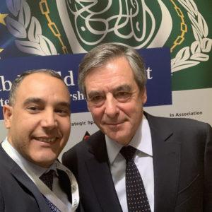 Με τον πρώην πρωθυπουργό της Γαλλίας κ. Francois Fillon bic