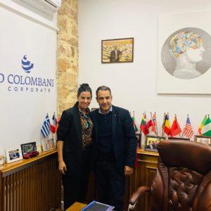 Με την Αντιδήμαρχο Πολιτισμού, Τουριστικής Ανάπτυξης και Διεθνών Σχέσεων του Δήμου Λαμίας, Αμαλία Πόντικα